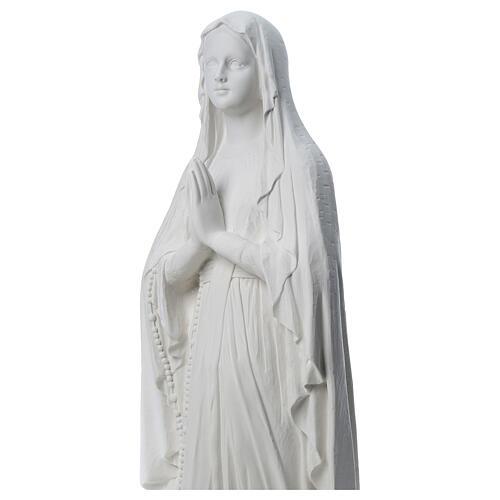 Nossa Senhora de Lourdes imagem em pó de mármore 31-130 cm 2