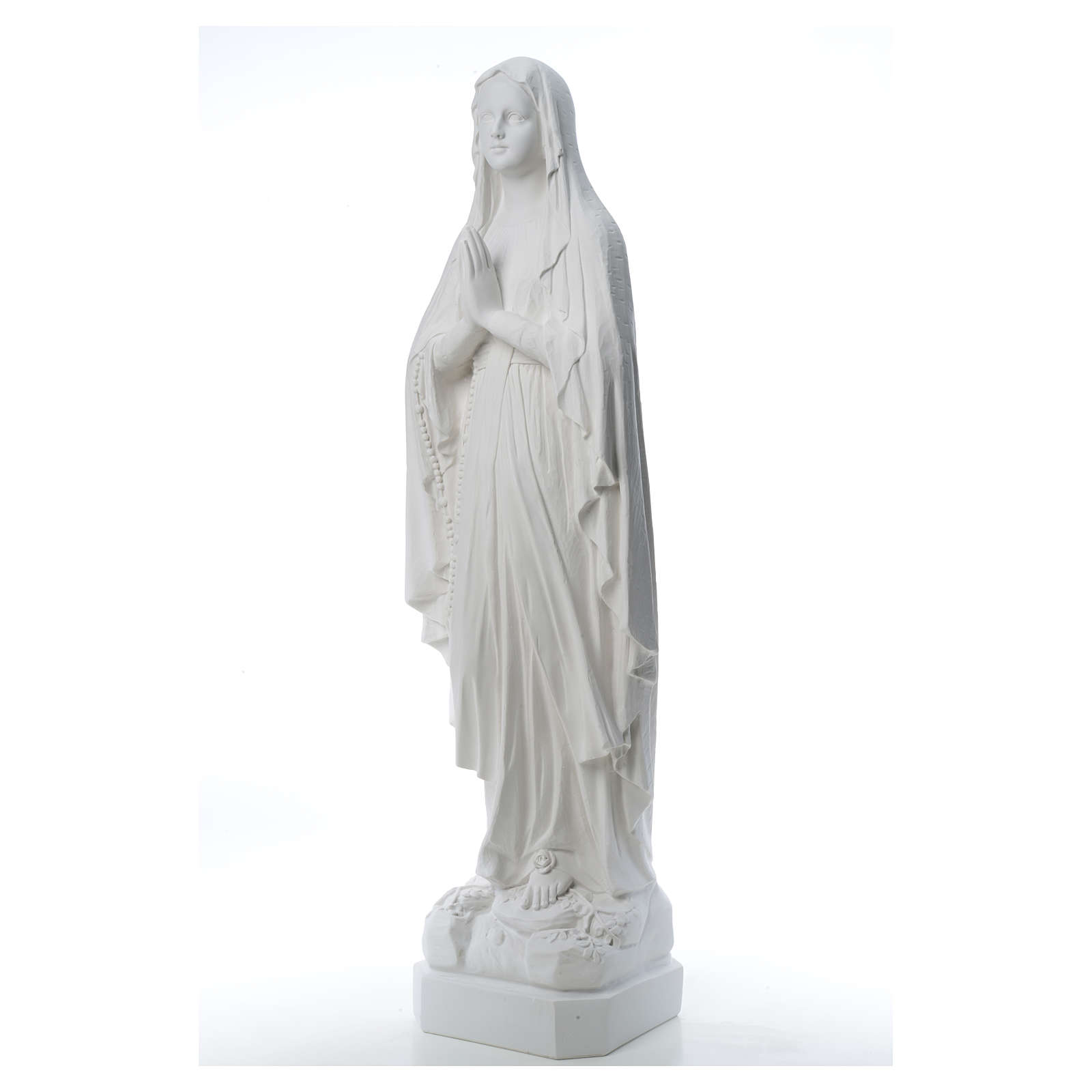 Our Lady of Lourdes statue made of reconstituted Carrara marble 31-130 cm 4