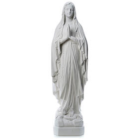 Our Lady of Lourdes statue made of reconstituted Carrara marble 31-130 cm s1