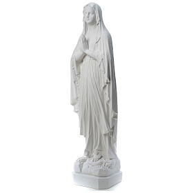 Our Lady of Lourdes statue made of reconstituted Carrara marble 31-130 cm s3