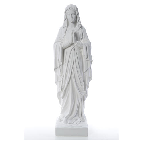 Our Lady of Lourdes 100 cm statue in reconstituted Carrara 5