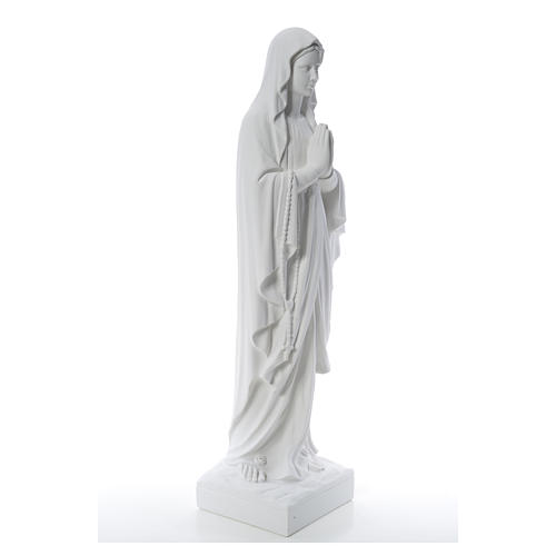Our Lady of Lourdes 100 cm statue in reconstituted Carrara 8