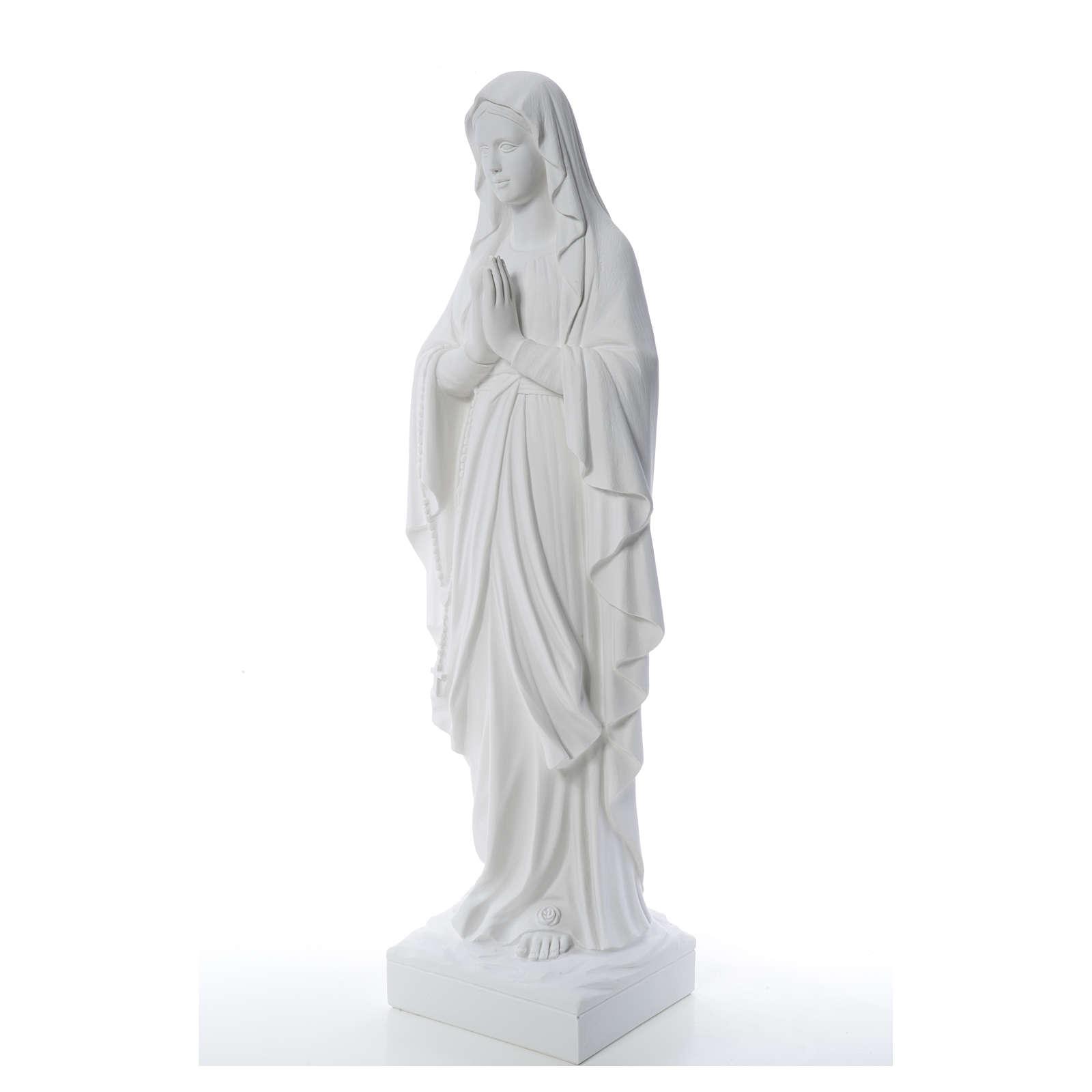 Virgen de Lourdes 100cm de mármol sintético 4