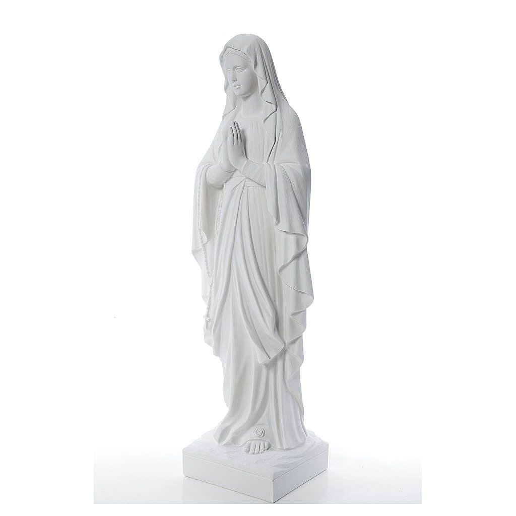 Madonna di Lourdes 100 cm marmo bianco 4