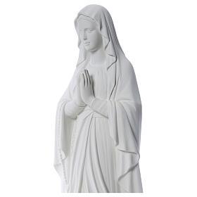 Madonna di Lourdes 100 cm marmo bianco