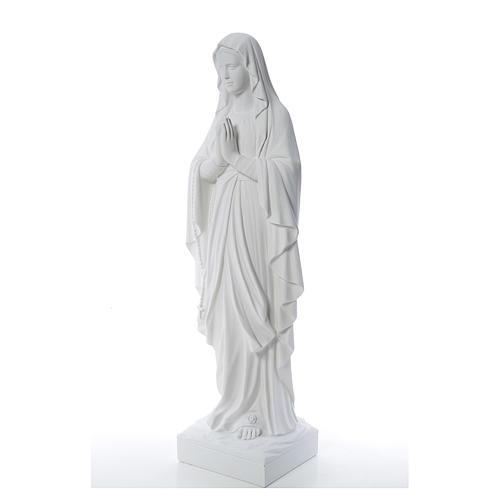 Madonna di Lourdes 100 cm marmo bianco 2