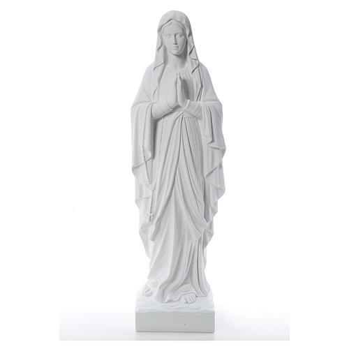 Madonna z Lourdes marmur biały 100 cm 1