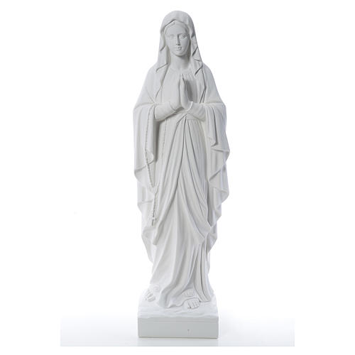 Our Lady of Lourdes 100 cm statue in reconstituted Carrara 1