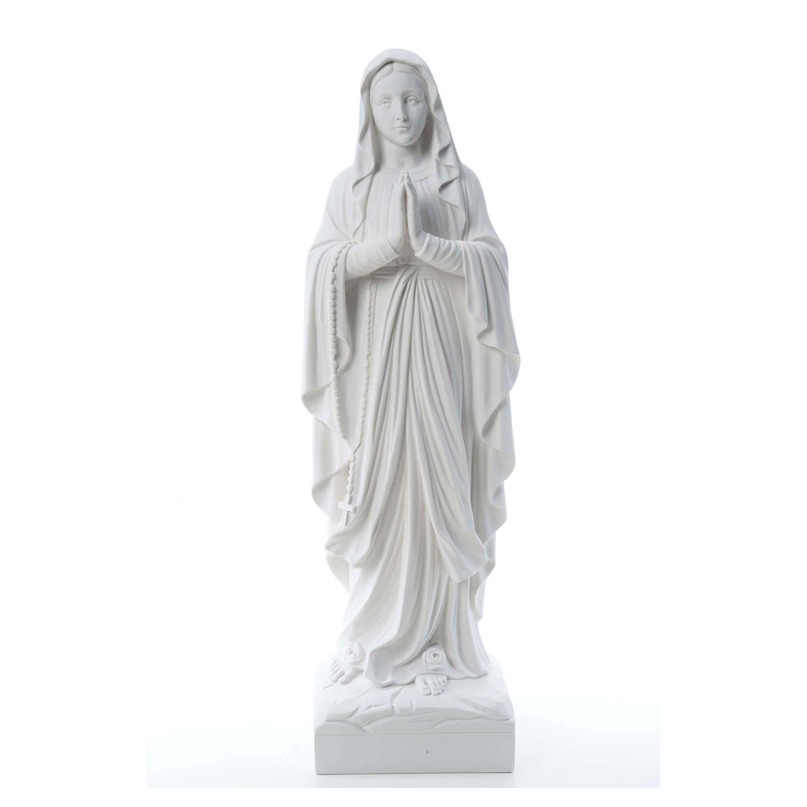 Our Lady of Lourdes, reconstituted Carrara marble statue 60-85 cm 4