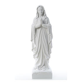 Our Lady of Lourdes, reconstituted Carrara marble statue 60-85 cm s5