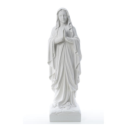 Our Lady of Lourdes, reconstituted Carrara marble statue 60-85 cm 5