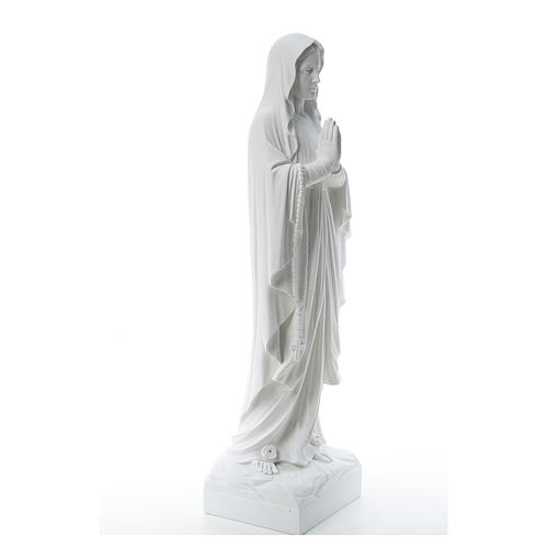 Virgen de Lourdes polvo de mármol blanco 60-85 cm 4