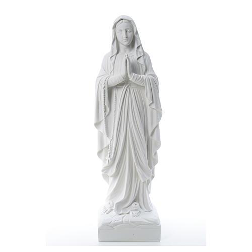 Statue Notre Dame de Lourdes marbre blanc 60-85 cm 1