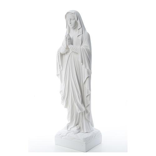 Statue Notre Dame de Lourdes marbre blanc 60-85 cm 2