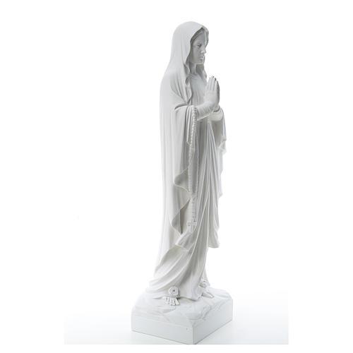 Madonna di Lourdes marmo bianco 60-85 cm 4