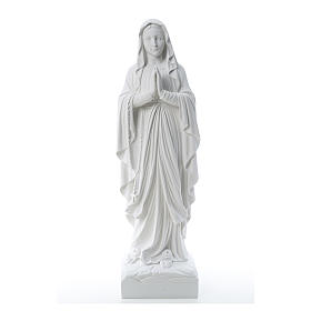 Our Lady of Lourdes, reconstituted Carrara marble statue 60-85 cm s1