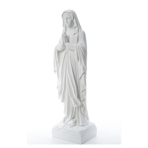Our Lady of Lourdes, reconstituted Carrara marble statue 60-85 cm 7