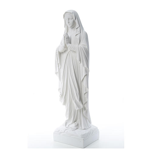 Our Lady of Lourdes, reconstituted Carrara marble statue 60-85 cm 3