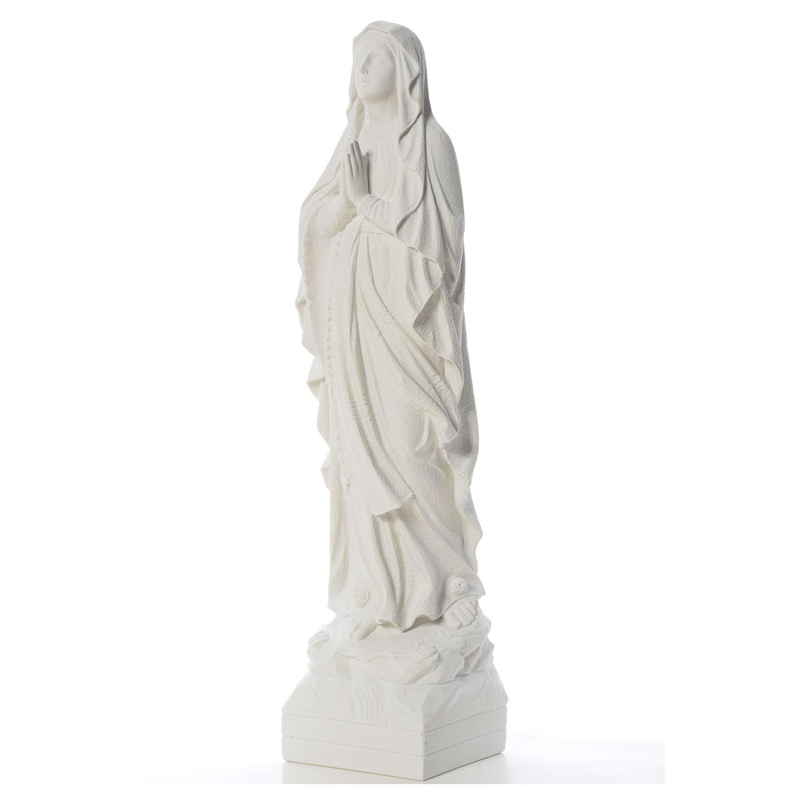 Virgen de Lourdes 70cm polvo de mármol blanco 4