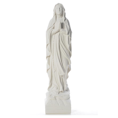 Virgen de Lourdes 70cm polvo de mármol blanco 5