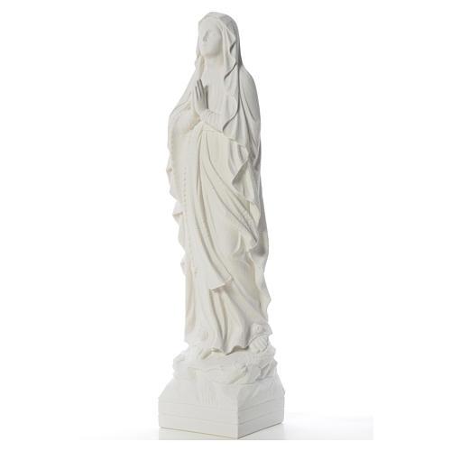 Virgen de Lourdes 70cm polvo de mármol blanco 6