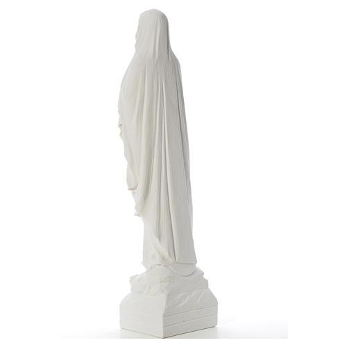 Virgen de Lourdes 70cm polvo de mármol blanco 7