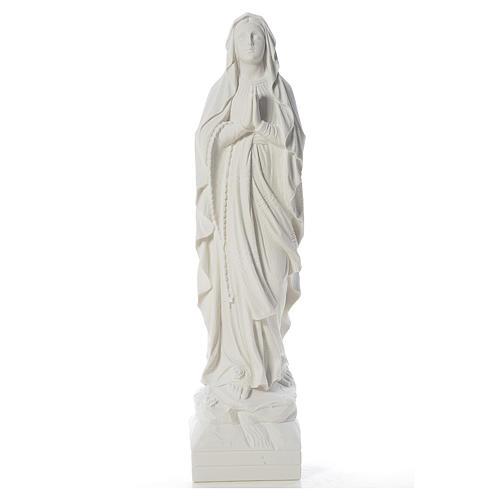 Virgen de Lourdes 70cm polvo de mármol blanco 1