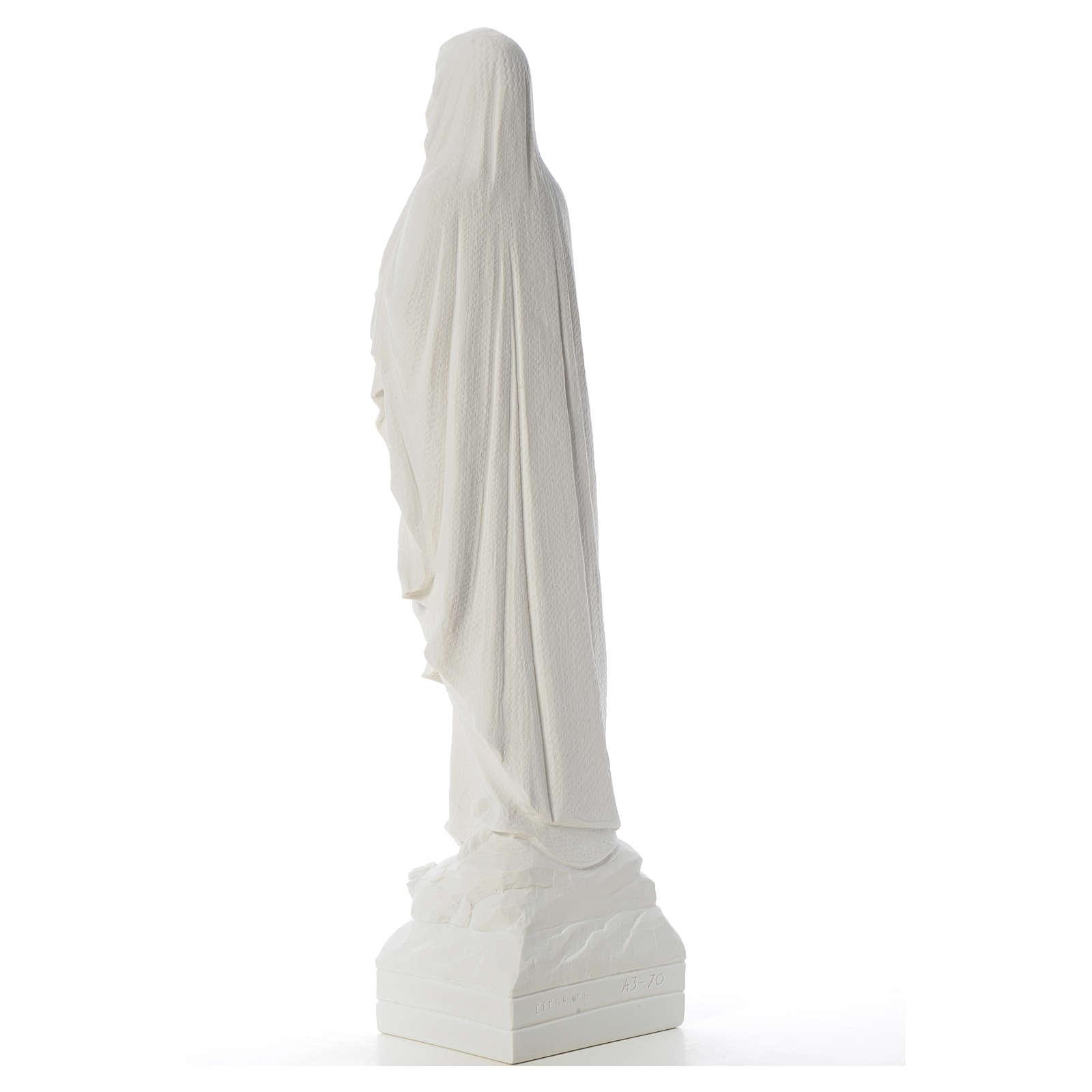 Statua Madonna Lourdes 70 cm polvere di marmo 4