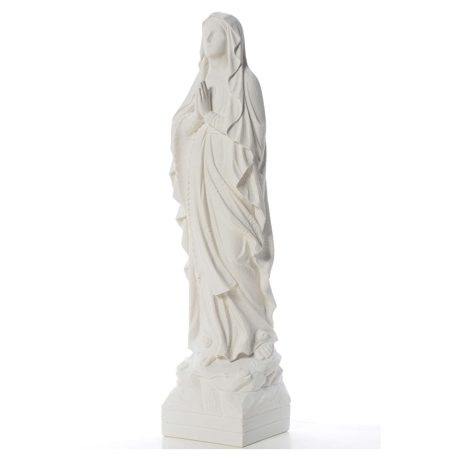 Our Lady of Lourdes 70 cm statue in reconstituted Carrara marble 4
