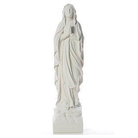 Our Lady of Lourdes 70 cm statue in reconstituted Carrara marble s5