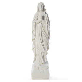Our Lady of Lourdes 70 cm statue in reconstituted Carrara marble s1