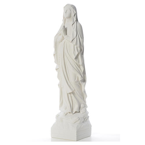 Our Lady of Lourdes 70 cm statue in reconstituted Carrara marble 2