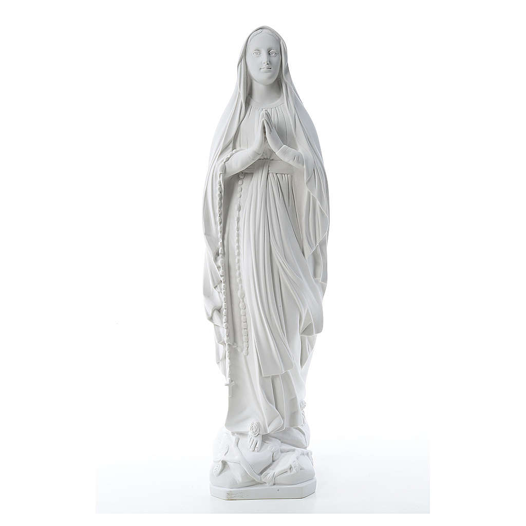 Statua Madonna Lourdes 80 cm marmo bianco 4