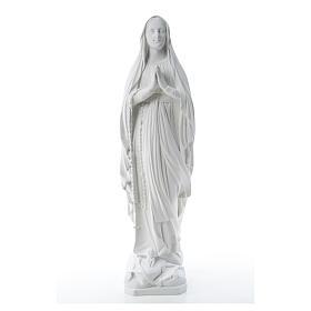 Statua Madonna Lourdes 80 cm marmo bianco s5