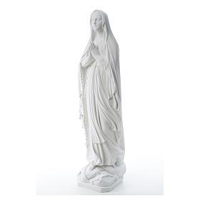 Statua Madonna Lourdes 80 cm marmo bianco s2