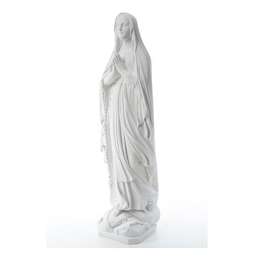 Statua Madonna Lourdes 80 cm marmo bianco 2