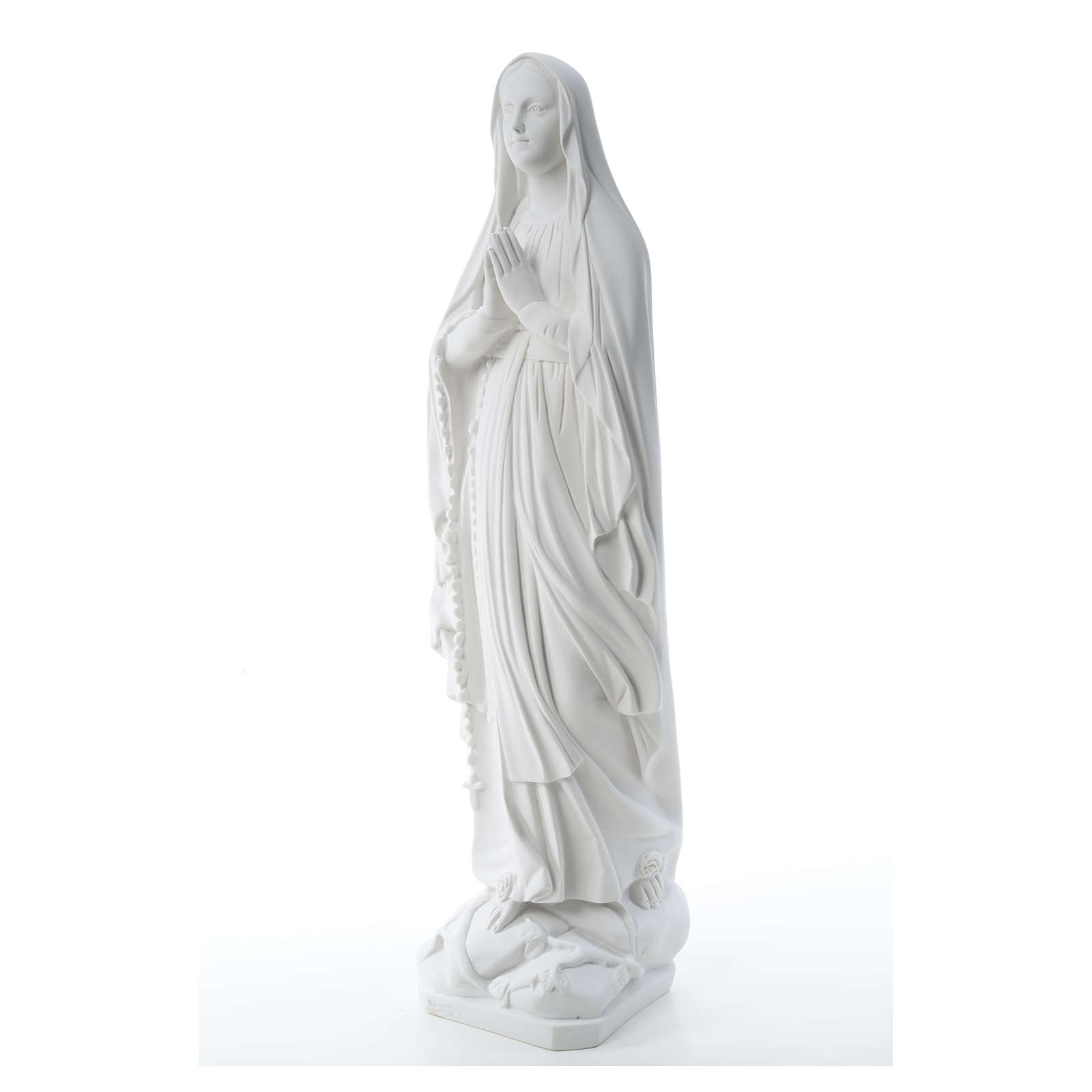 Our Lady of Lourdes statue in reconstituted Carrara marble, 80cm 4