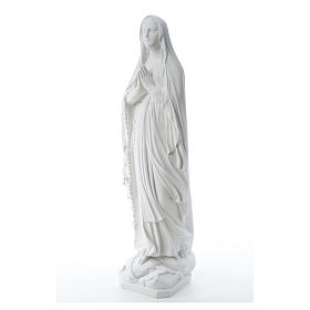 Our Lady of Lourdes statue in reconstituted Carrara marble, 80cm s6