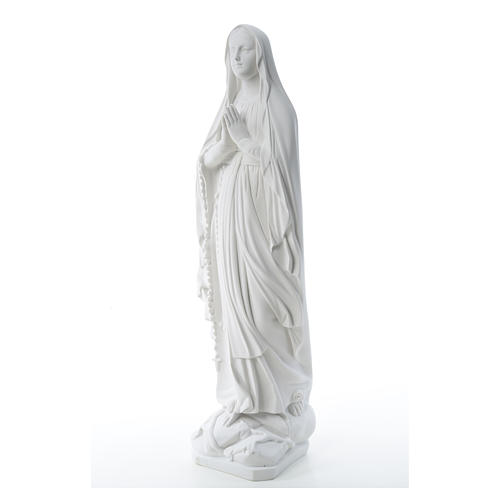 Our Lady of Lourdes statue in reconstituted Carrara marble, 80cm 6