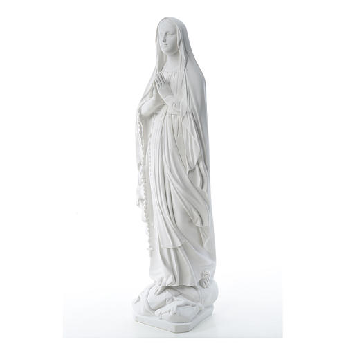 Our Lady of Lourdes statue in reconstituted Carrara marble, 80cm 2