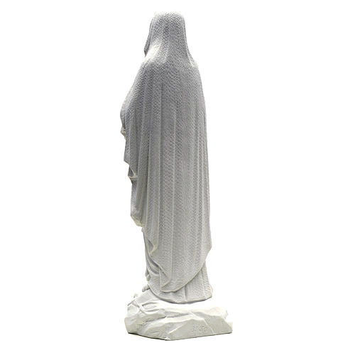 Our Lady of Lourdes statue in reconstituted Carrara marble, 50cm 3