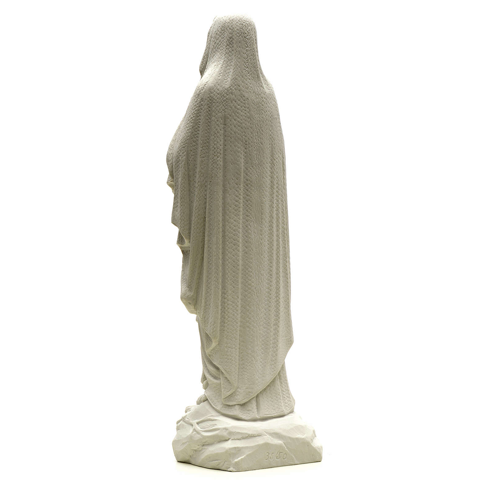 Estatua de la Virgen de Lourdes 50cm mármol blanco 4