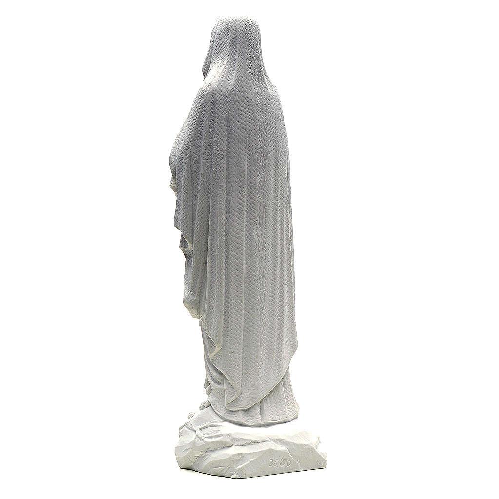 Statua Madonna Lourdes 50 cm polvere di marmo bianco 4