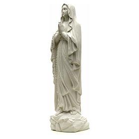 Statua Madonna Lourdes 50 cm polvere di marmo bianco s6