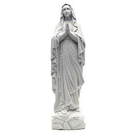 Statua Madonna Lourdes 50 cm polvere di marmo bianco s1