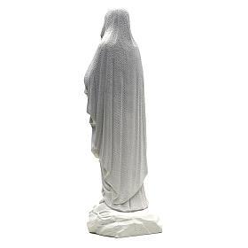 Statua Madonna Lourdes 50 cm polvere di marmo bianco s3
