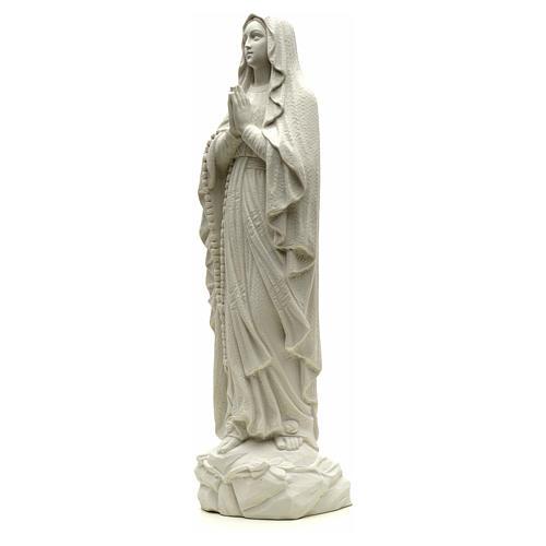 Statua Madonna Lourdes 50 cm polvere di marmo bianco 6
