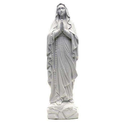 Statua Madonna Lourdes 50 cm polvere di marmo bianco 1