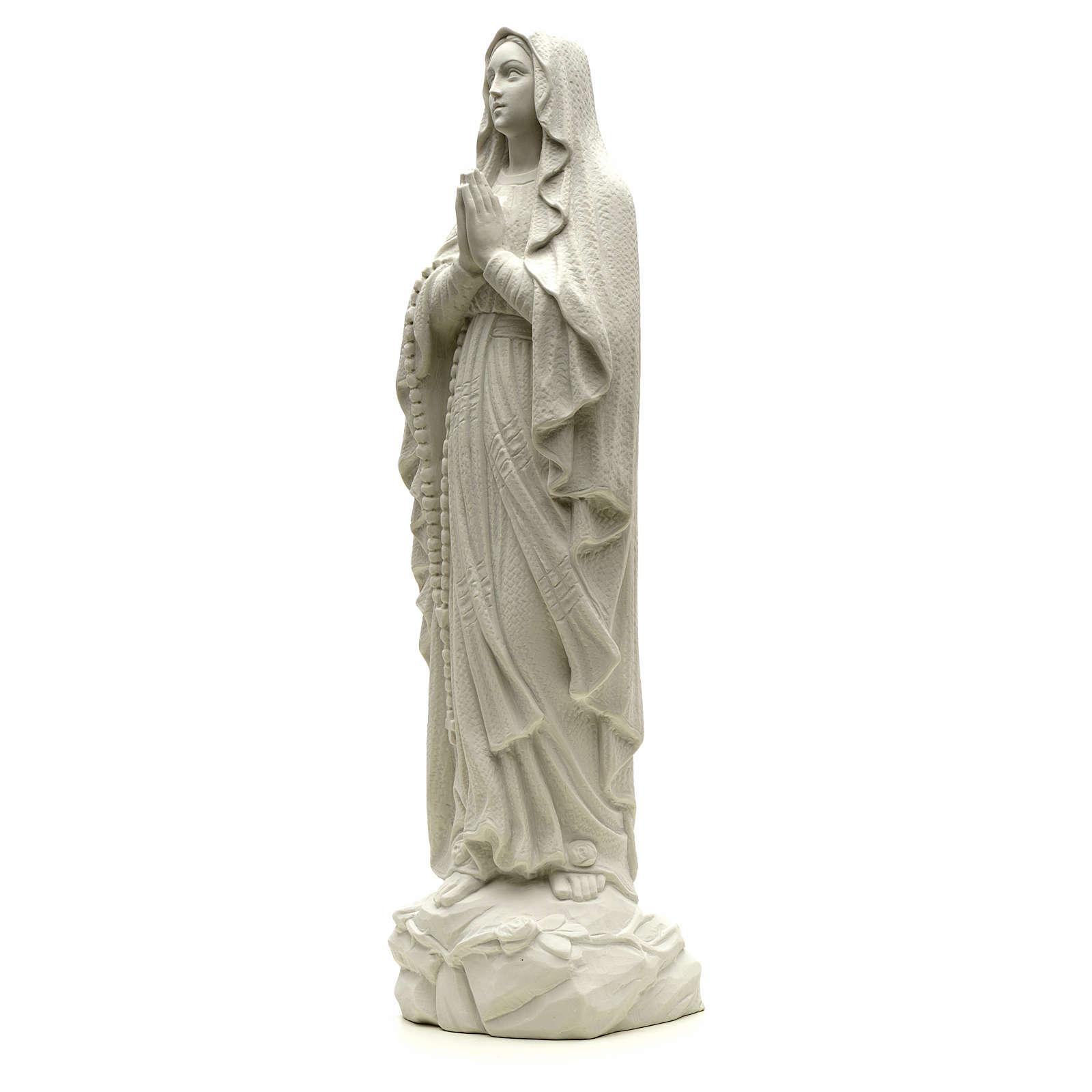 Figurka Madonna Lourdes proszek marmurowy biały 50cm 4