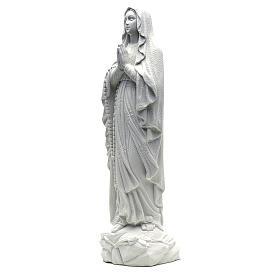 Figurka Madonna Lourdes proszek marmurowy biały 50cm s2